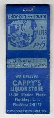 Cappy's Liquor Store Linden Place Flushing New York Vintage Matchbook Cover (Flushing Stores)