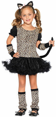 Child Toddler and Kids Little Leopard Girls Costume - Cat Costumes Small 4-6](Toddler Cat Costumes)