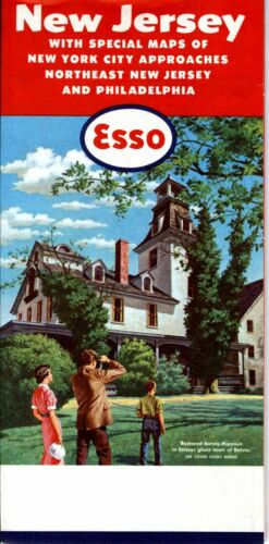 1959 Esso Road Map: New Jersey NOS