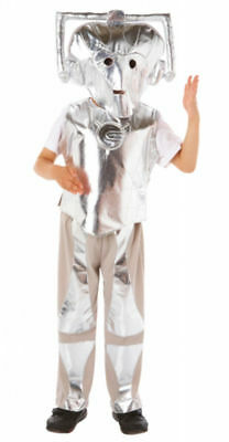 Doctor Who Child Costume (Official Doctor Who Cyberman Kids Fancy Dress Costume - Size 3 - 5 Years -)