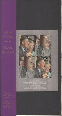 GB 2005 Prince Charles/Royal Wedding/Royalty/People  4v m/s Pres Pack (n43508a)