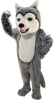Grey Husky Dog Professional Quality Lightweight Mascot Costume - Husky Dog Costume
