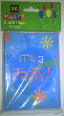 KIDS BIRTHDAY PARTY INVITATIONS CHILDREN THEME CARDS 8 PACK SET @@MY OTHER ITEMS - Kids Invitations
