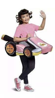Children's NWT Mario Kart Nintendo Peach Girl's 3D Car Costume One - Nintendo Peach Kostüm
