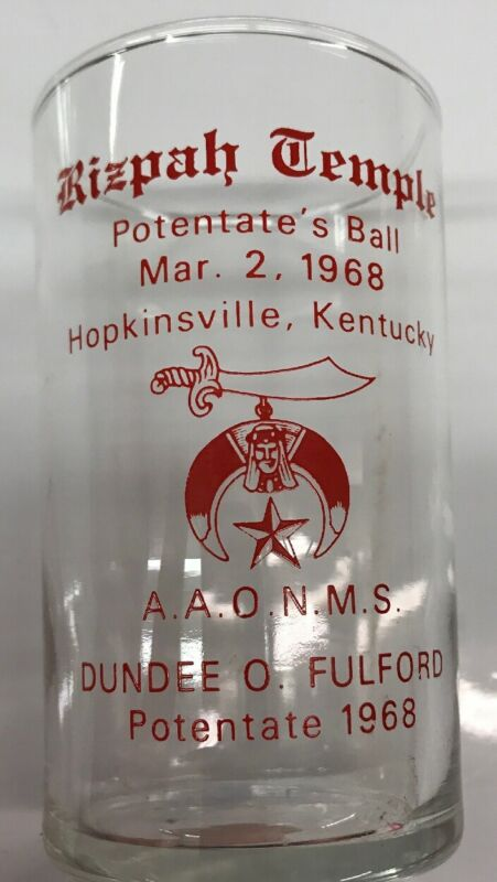 ANTIQUE 1968 MASONIC SHRINER Potentates ball Hopkinsville Kentucky