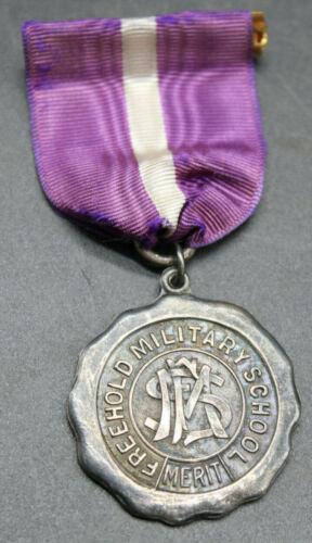 VTG Freehold Military Academy School Merit Award Medal SENIOR BOY STERLING (J2S)