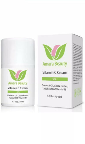 Amara Organics Vitamin C Cream for Face with Coconut Oil, Co