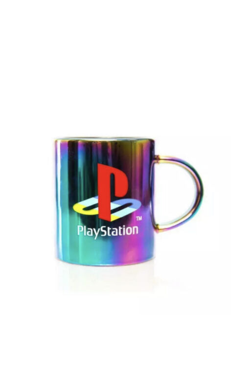 Official PlayStation Coffee Mug Electroplated Finish 11oz NEW