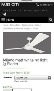 Milano ceiling fan x2 Coogee Eastern Suburbs Preview