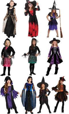 Spinnenmädchen Spinne Hexe Halloween Kinder Karneval Kostüm 104-164