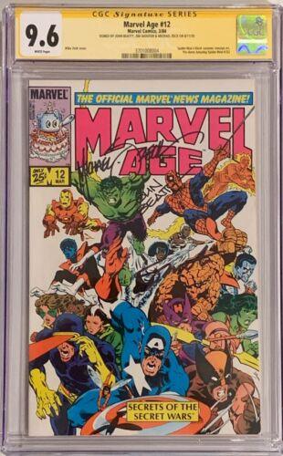 Marvel Age #12 (1984) CGC 9.6 SS White Pages - signed by Zeck, Beatty & Shooter