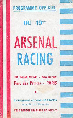Racing Paris v. Arsenal 18/4/1956 Friendly