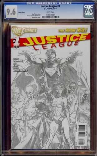 Justice League #1 CGC 9.6 David Finch 1:200 Sketch Variant New 52