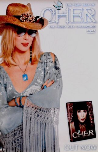 CHER 2004 THE VERY BEST OF CHER VIDEO HITS COLLECTION PROMO POSTER / NMT 2 MINT