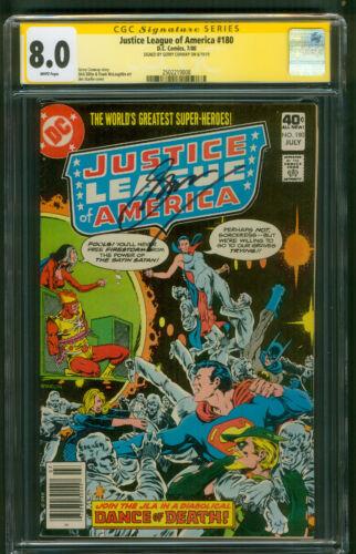 Justice League 180 CGC SS 8.0 Batman Superman vs Satin Satan 1980 White pgs