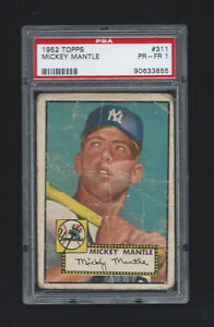 1952 Topps #311 Mickey Mantle PSA 1 Yankees