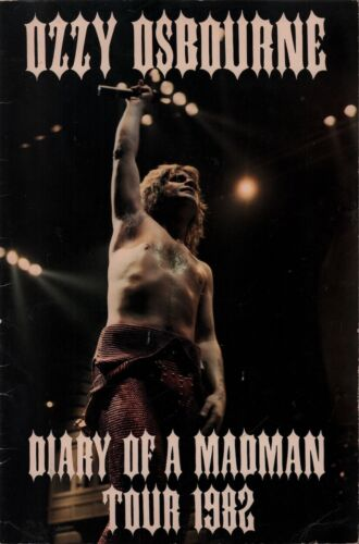 OZZY OSBOURNE / RANDY RHOADS 1982 DIARY OF A MADMAN TOUR PROGRAM BOOK / EX 2 NMT