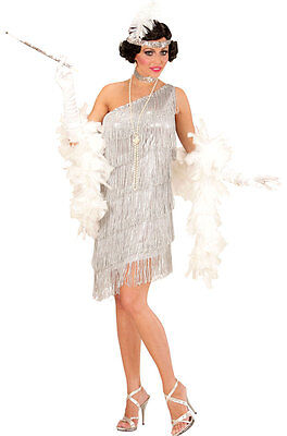 ieselotte Damenkostüm silber NEU - Damen Karneval Fasching V (Karneval Flapper Kostüm)