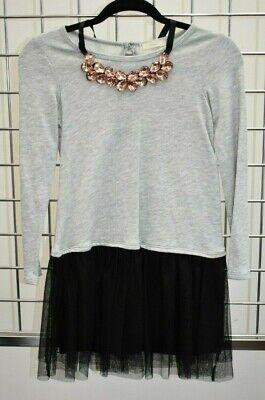 Designer Girls Dresses Sale (NWT Soprano Designer Gray girls dress Size Medium 12/13 On)
