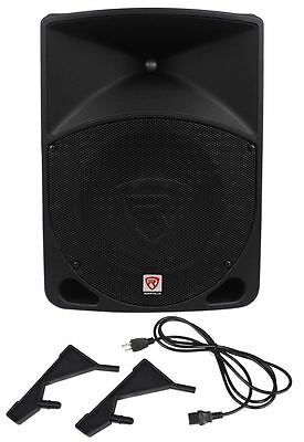 "Rockville RPG10 10"" Powered Active 600 Watt 2-Way DJ PA Speaker System"