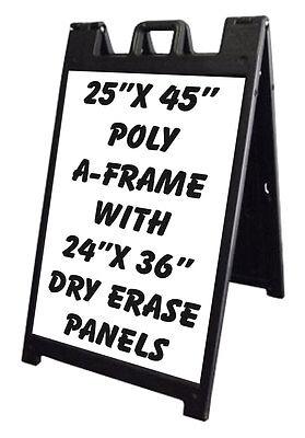 25 X 45 Signacade Plasticade A-frame Sign Sidewalk 24x36 Dry Erase Panels