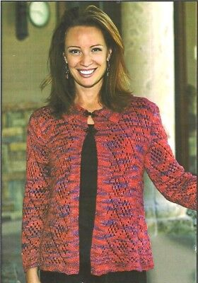 GORGEOUS LACE BALLET CARDIGAN to KNIT in WORSTED WEIGHT YARN by FIESTA YARNS Lace Cardigan Knit Pattern