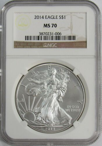 2014 P Silver American Eagle NGC MS-70