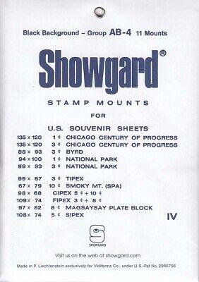 Showgard Stamp Mounts Set: Group AB (US Souvenir Sheets to 1975) - Black