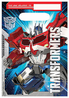 Boys Party Supplies (Transformers Loot Gift Treat Bags Boys Birthday Party Favor Supplies ~8ct)