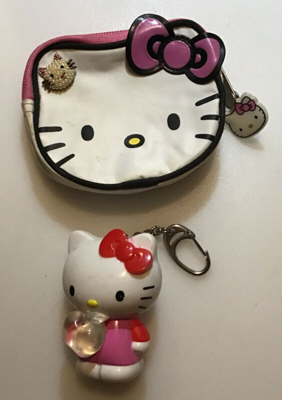 Hello Kitty Coin Purse, Pin, Color Changing Light Up Key Chain