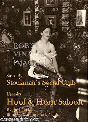 Stockman's Social Cub St.Joseph, Mo Soiled Doves Brothel 1898 Vintage photo ad