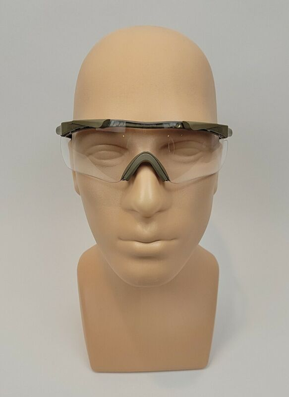 Smith Optics Aegis Arc Eyeshield Field Kit Tan Frame Clear Grey Lens