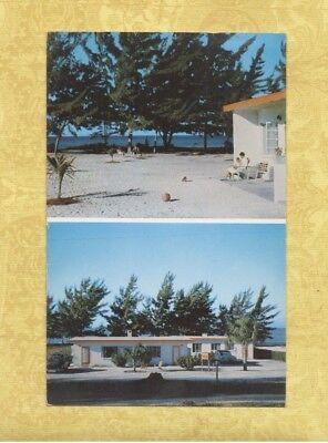 FL Sarasota Long Boat Key area 1956 postcard COQUINA SANDS APARTMENTS MR. BAILEY