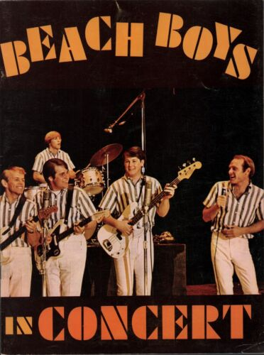 BEACH BOYS 1964 ALL SUMMER LONG TOUR CONCERT PROGRAM BOOK BRIAN WILSON / EX 2 NM