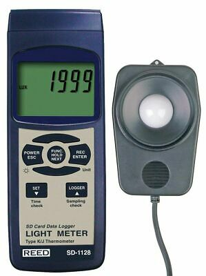 Reed Sd-1128 Light Meter Data Logger 2000 20000 100000 Lux