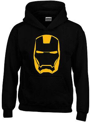 Iron Man Marvel Inspired Boys Girls Kids Mens Comic Hero Geek Hoodie ()