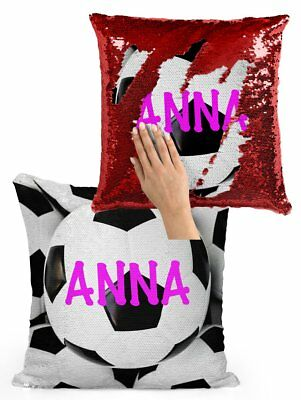 Personalized Soccer Balls (PERSONALIZED MERMAID SEQUIN FLIP PILLOW - SOCCER BALLS WITH)