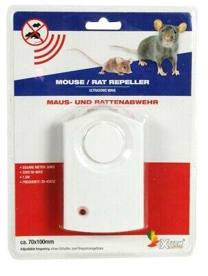Elektrische Mauseabwehr Ultraschall Mäuse Ratten abwehr Mäusefalle Rattenfalle