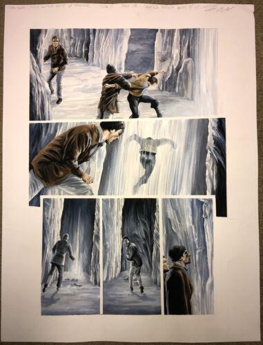 Harlan Ellison Star Trek City on Edge of Forever #5 Original Art Painting Signed