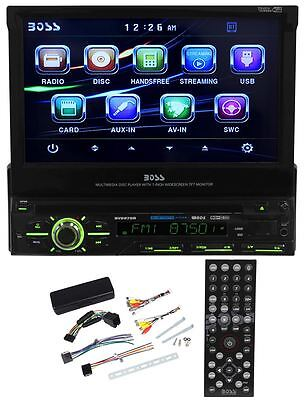 "Boss BV9979B 7"" In-Dash Single Din Car DVD Player Receiver w/Bluetooth, USB, SD"