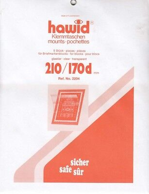 Hawid Stamp Mounts 210mm x 170 Clear Back For Large Souvenir Sheets Pack Of 5