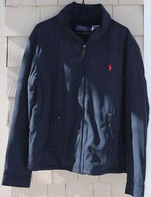NWT-$165 Polo Ralph Lauren Men's Perry Hooded Jacket Aviator Navy Size XL