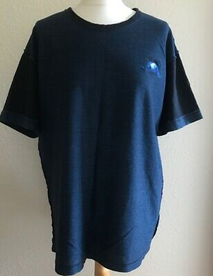Kenzo Men's Wave Design Blue T Shirt Size XL