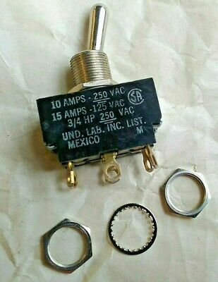 Dpdt Toggle Switch Carling Technologies 2 Fl50-73 Silver Electronic Parts Diy