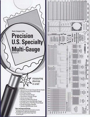 New Stamps Perforation Gauge Scott Precision US Specialty 12 in 1 Multi GO no GO