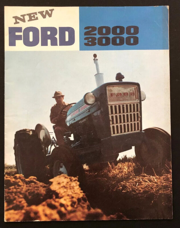 Ford New 2000 3000 Tractors Agriculture Farming Equipment Brochure Advertising