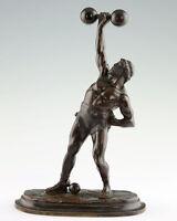 Ercole Mostra Sua Muscoli 1820 Statua Bronzo Figura Scultura Francia -  - ebay.it
