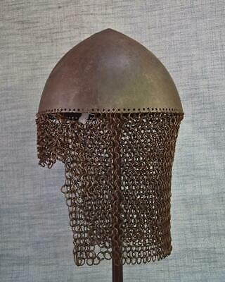 Antique 17th Century Russian Muscovite With Camail Of Chain Mail to sword armour