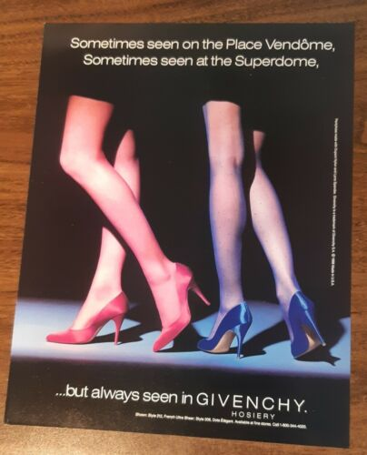 1988 1 PAGE ADVERTISEMENT Givenchy Pantyhose AD