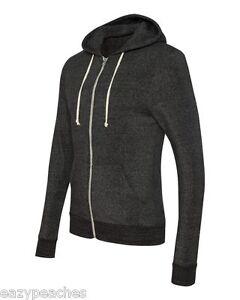 Alternative NEW Unisex XS-3XL ECO Full Zip-up Rocky Hoodie Jumper eco Apparel